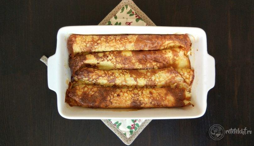 Clătite dietetice cu brânză la cuptor