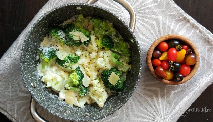 Mâncare de conopidă și broccoli