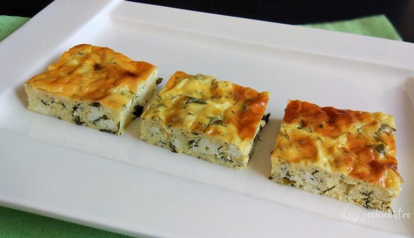 Plăcintă cu brânză sărată și mărar, fără făină