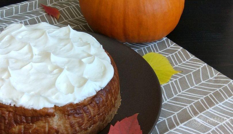 Prăjitură cu mascarpone și dovleac, fără gluten și fără zahăr