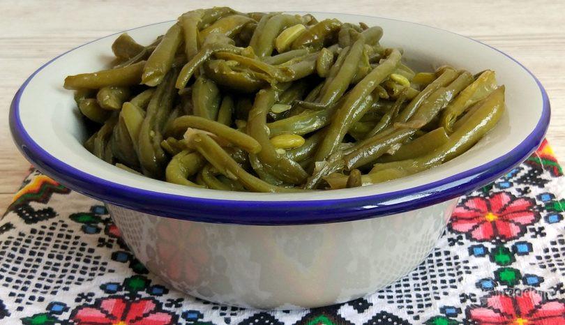 Mâncare de fasole verde păstăi