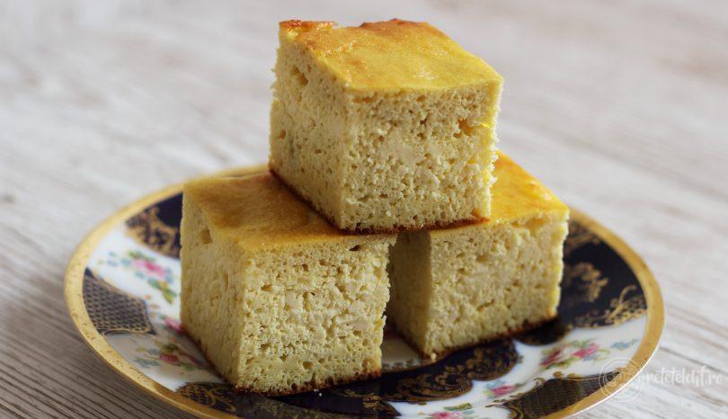 Prăjitură turnată keto, cu brânză sau dovleac