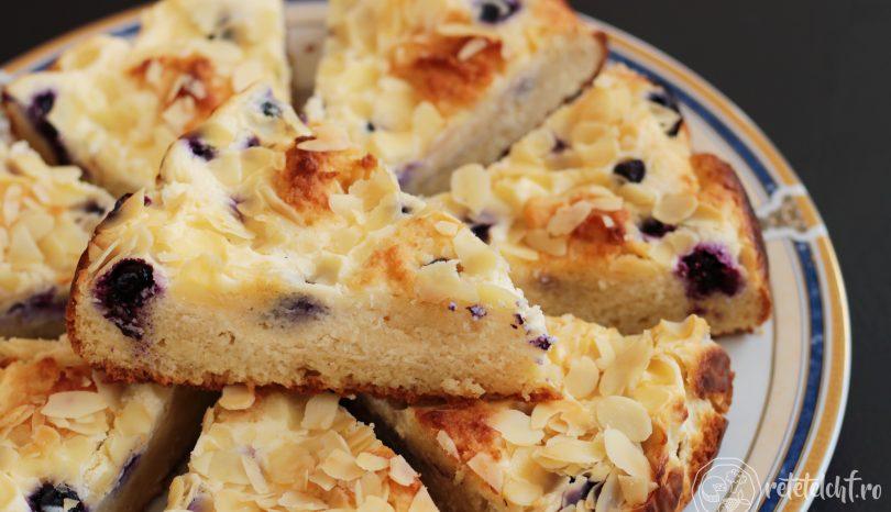 Prăjitură cu mascarpone și afine