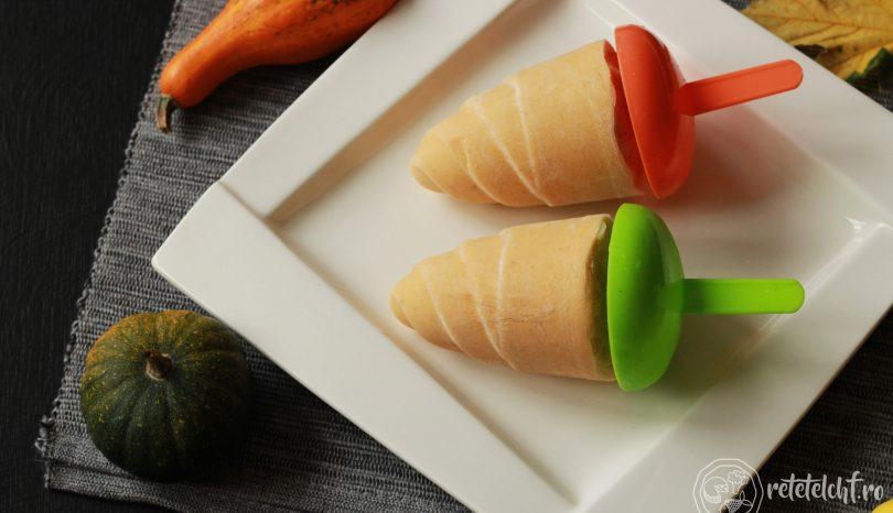 Înghețată de cocos și dovleac copt (de post)