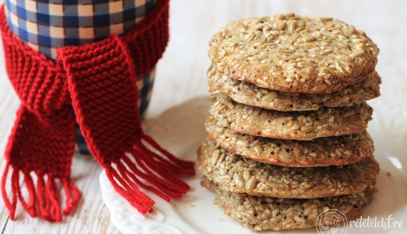 Biscuiți keto din semințe