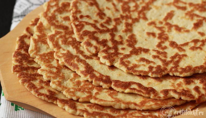 Turte (sau gofre) cu brânză de burduf și făină Szafi Reform