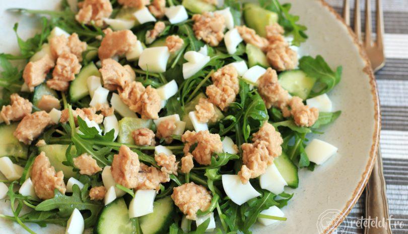Salată de rucola cu ficat de cod