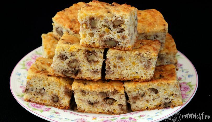 Prăjitură keto cu dovleac și nuci