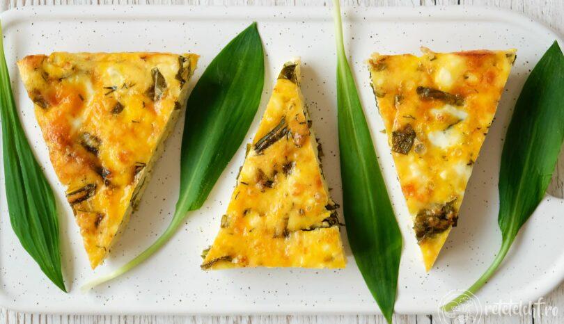 Plăcintă cu brânzeturi și leurdă